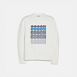 COACH EMBROIDERED SWEATSHIRT - WHITE - COACH 72584