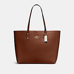 TOWN TOTE - IM/SADDLE TERRACOTTA - COACH 72673