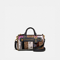 SHUFFLE IN SIGNATURE JACQUARD - TAN BLACK/BRASS - COACH 72689