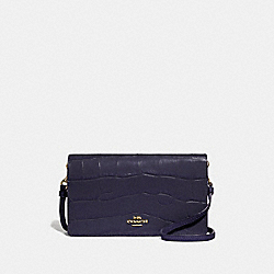 HAYDEN FOLDOVER CROSSBODY CLUTCH - GD/INK - COACH 72781