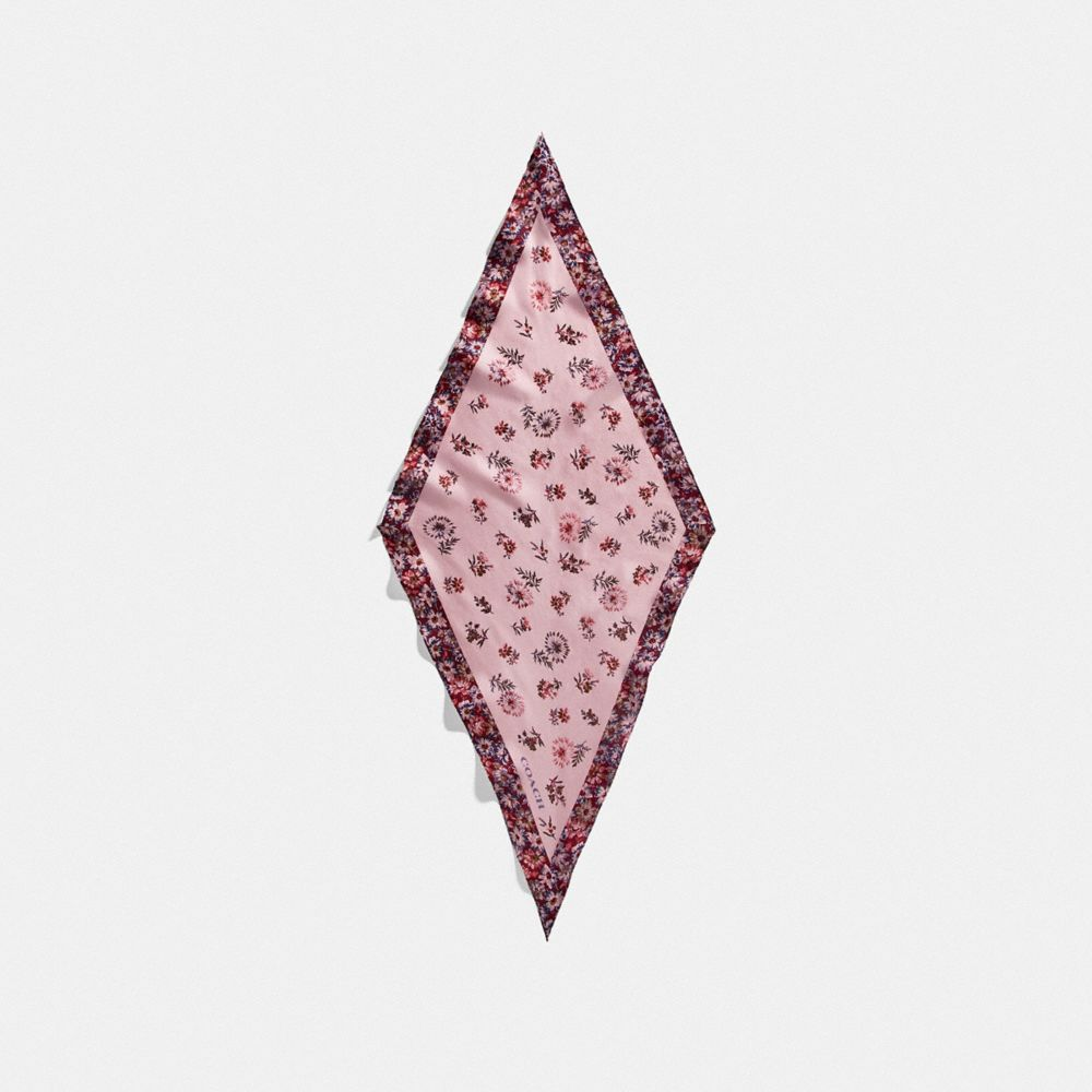 프레리 플로럴 프린트 실크 다이아몬드