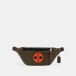COACH X MICHAEL B. JORDAN WARREN BELT BAG IN SIGNATURE CANVAS - QB/NINJA GREEN - COACH 7357