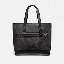 ACADEMY TOTE IN SIGNATURE CANVAS WITH WILD BEAST PRINT - GREEN WILD BEAST SIGNATURE/BLACK COPPER - COACH 73666