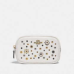 BELT BAG WITH SCATTERED RIVETS - BRASS/CHALK MULTI - COACH 73741
