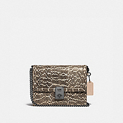 HUTTON SHOULDER BAG IN SNAKESKIN - V5/NEUTRAL - COACH 738