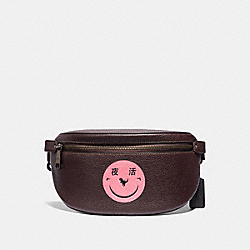 BELT BAG WITH REXY BY YETI OUT - V5/OXBLOOD - COACH 73938