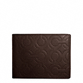 OP ART EMBOSSED LEATHER PASSCASE ID