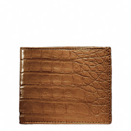 EXOTIC SLIM BILLFOLD IN CROCODILE