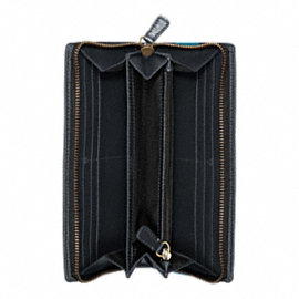 BLEECKER LEGACY DEBOSSED STRIPE ACCORDION ZIP