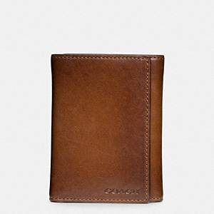 Coach - Bleecker Legacy Leather Trifold Wallet Fawn