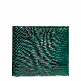 CROSBY EXOTIC LIZARD DOUBLE BILLFOLD