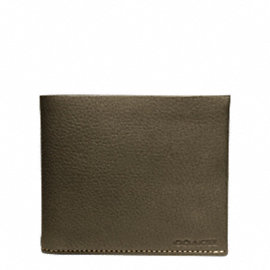 BLEECKER PEBBLED LEATHER DOUBLE BILLFOLD