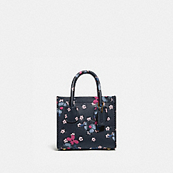 CASHIN CARRY TOTE 14 WITH BLOCKED FLORAL PRINT - B4/MULTI - COACH 747