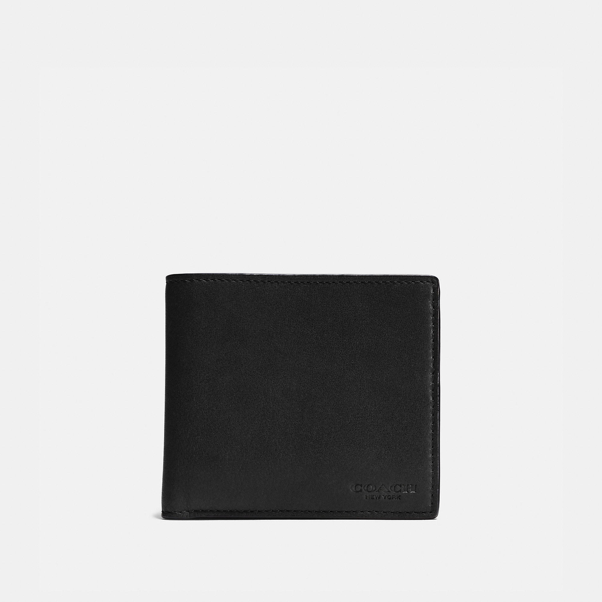 Coach Coin Wallet In Sport Calf Leather