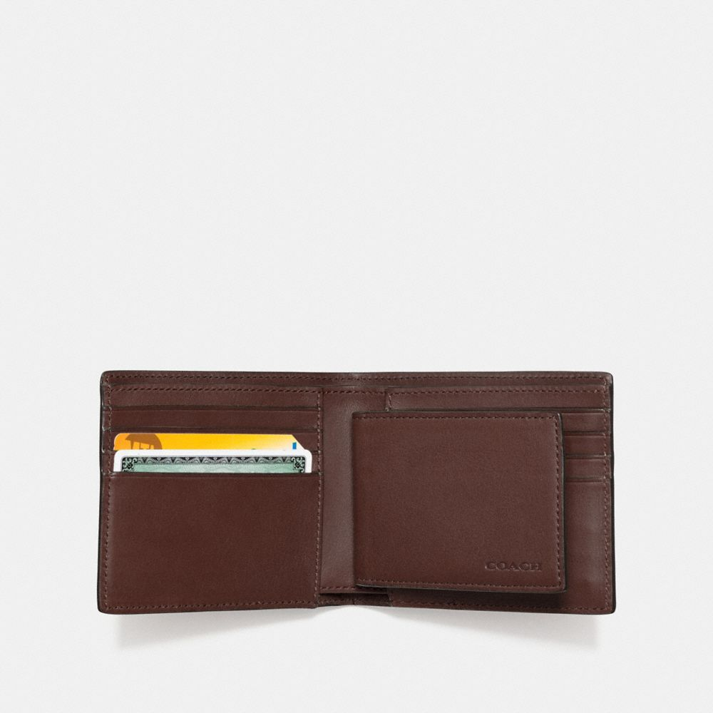 COMPACT ID WALLET IN SPORT CALF LEATHER - Alternate View