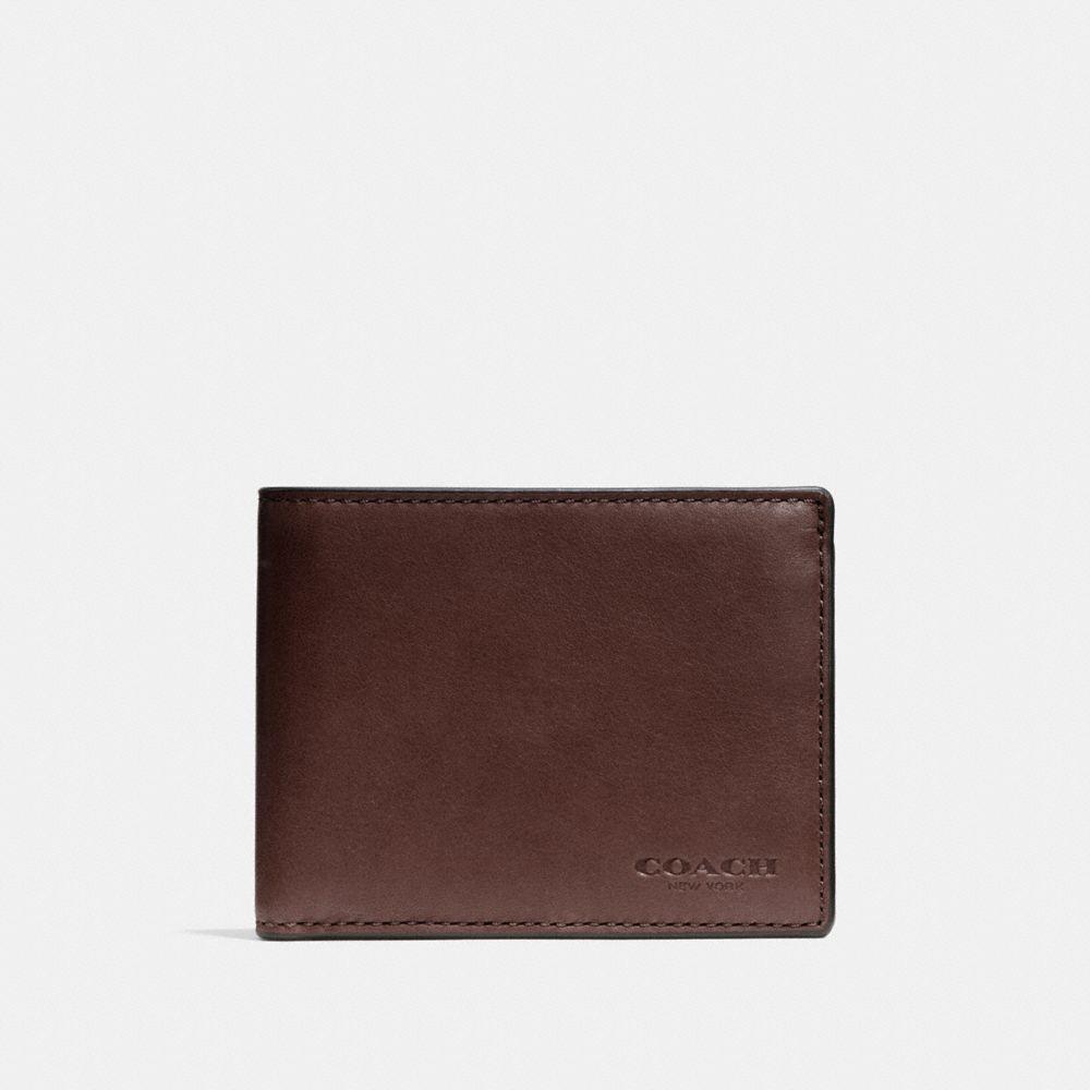 Slim Billfold Id Wallet in Sport Calf Leather