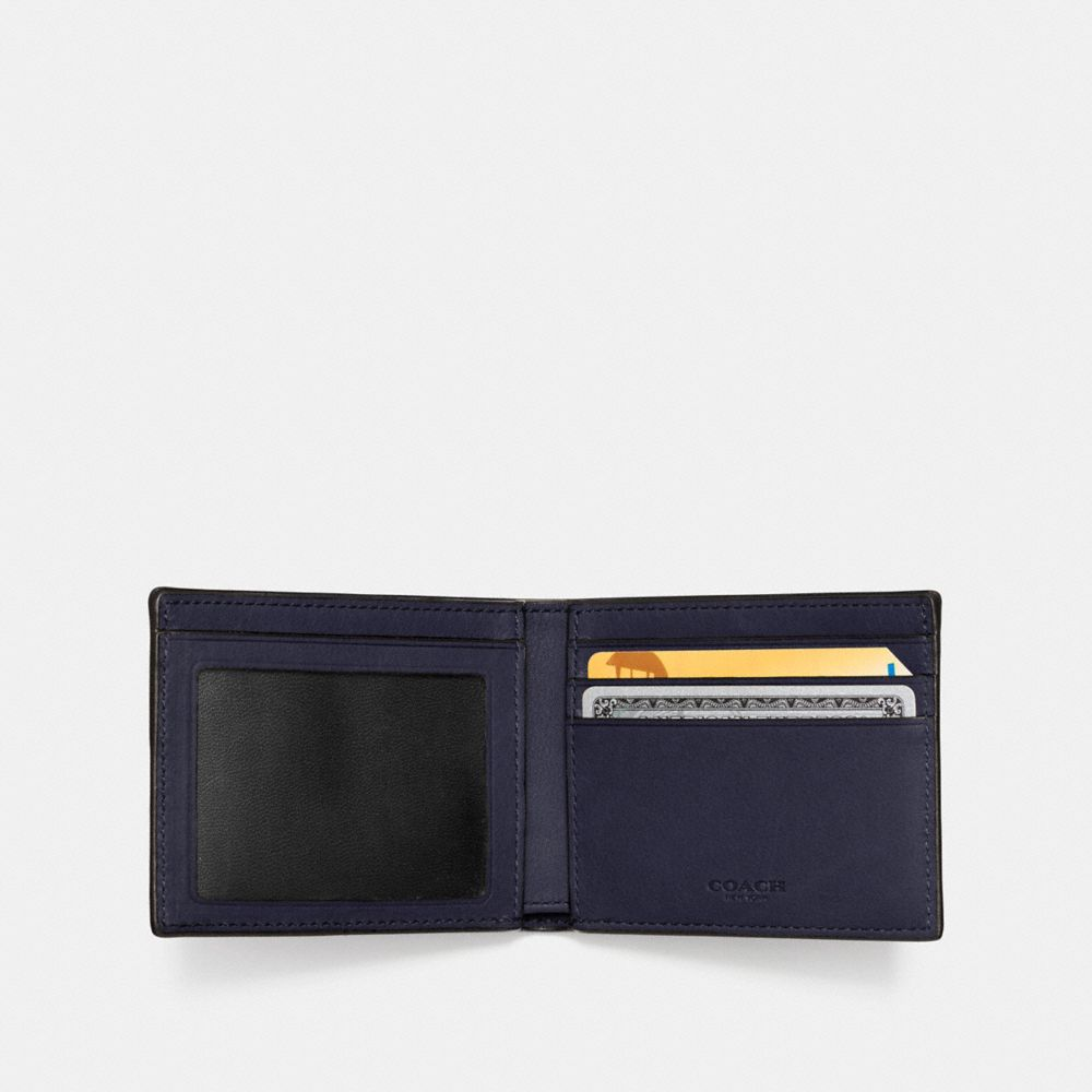 SLIM BILLFOLD ID WALLET IN SPORT CALF LEATHER - Alternate View