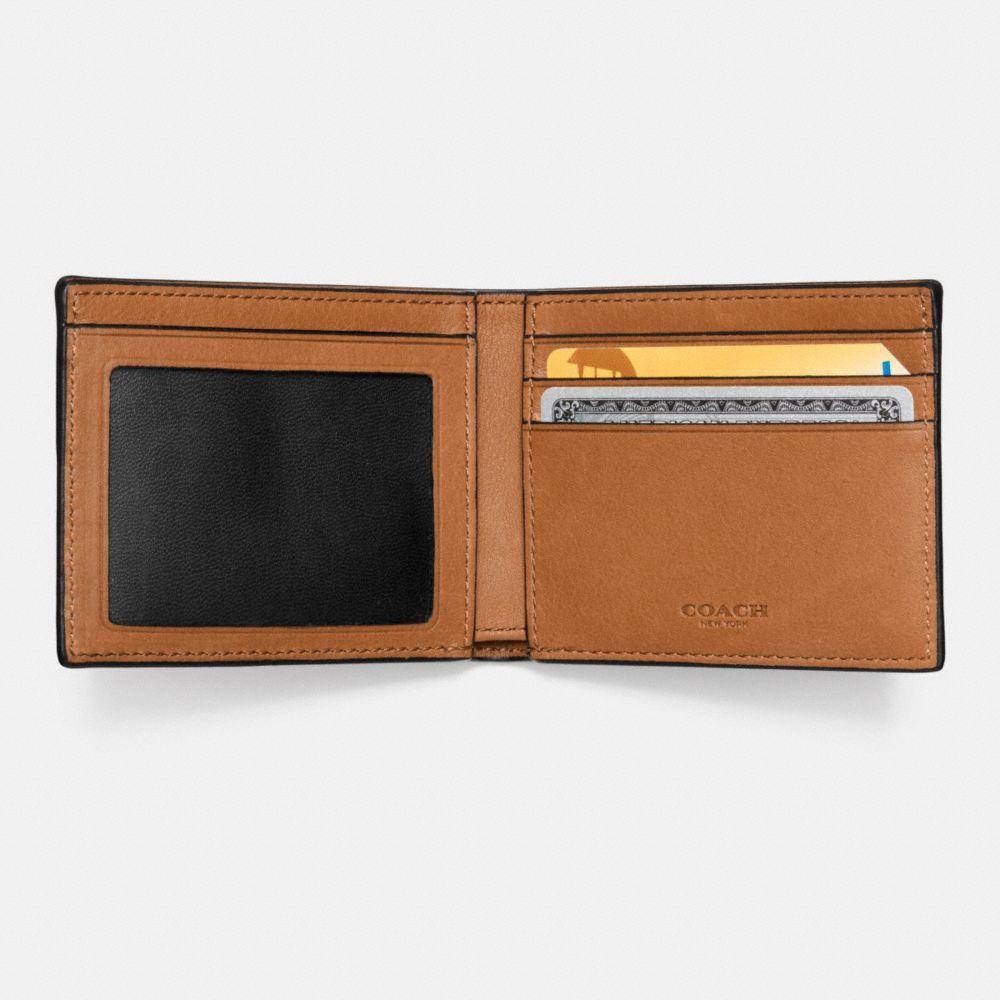 Slim Billfold Id Wallet in Sport Calf Leather - Alternate View L1