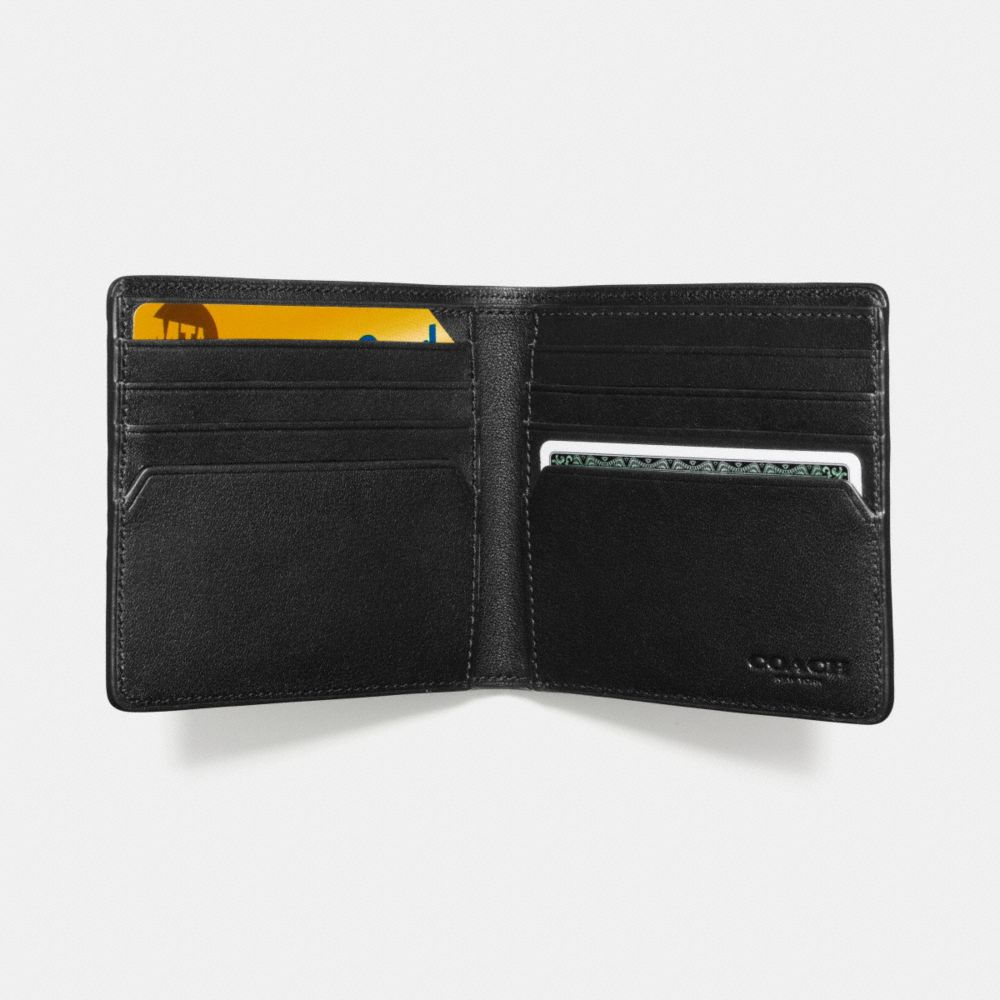 DOUBLE BILLFOLD WALLET IN SIGNATURE CROSSGRAIN LEATHER - Alternate View