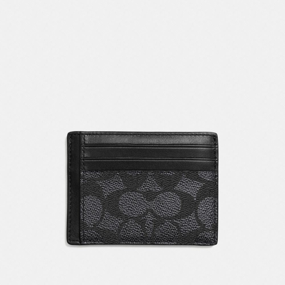 ID CARD CASE IN EMBOSSED SIGNATURE CANVAS - Alternate View