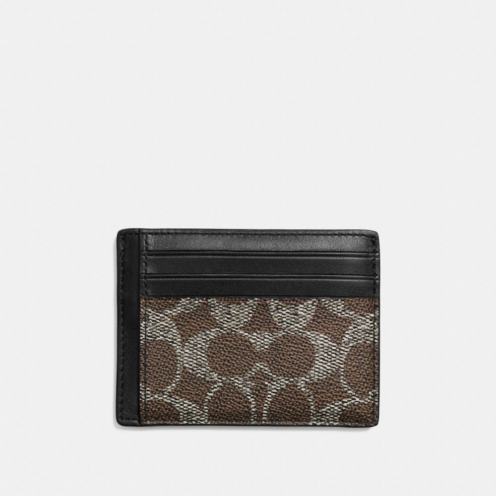 ID CARD CASE IN EMBOSSED SIGNATURE CANVAS