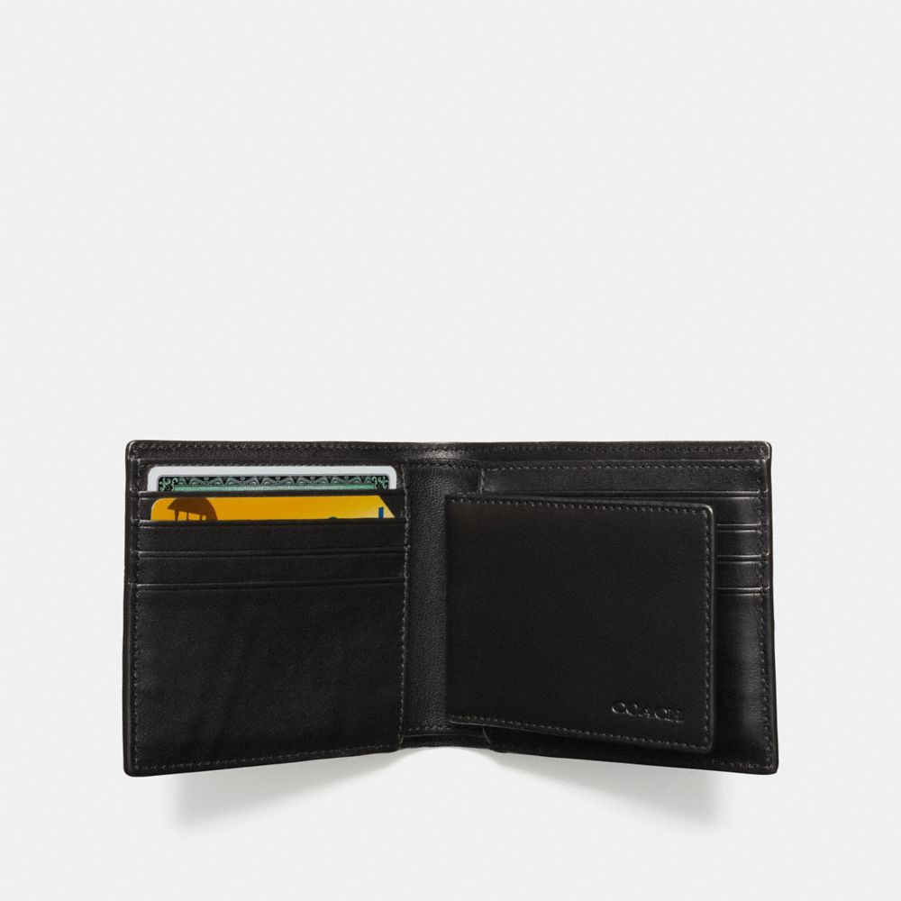 COMPACT ID WALLET IN SIGNATURE COATED CANVAS - Alternate View