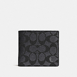 COIN WALLET IN SIGNATURE CANVAS - CHARCOAL - COACH 74937