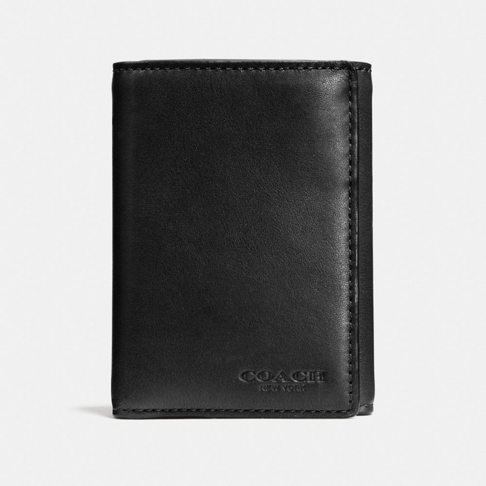 TRIFOLD WALLET IN SPORT CALF LEATHER - Alternate View