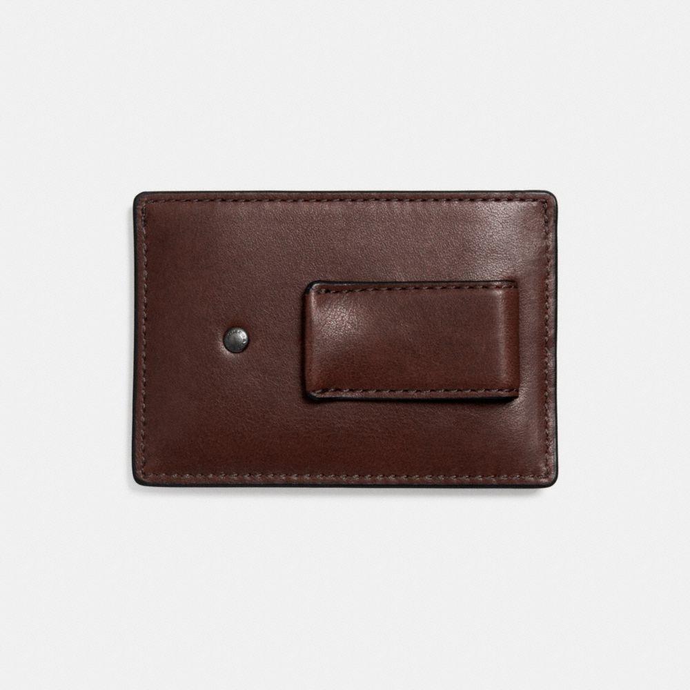 MONEY CLIP CARD CASE IN SPORT CALF LEATHER - Alternate View