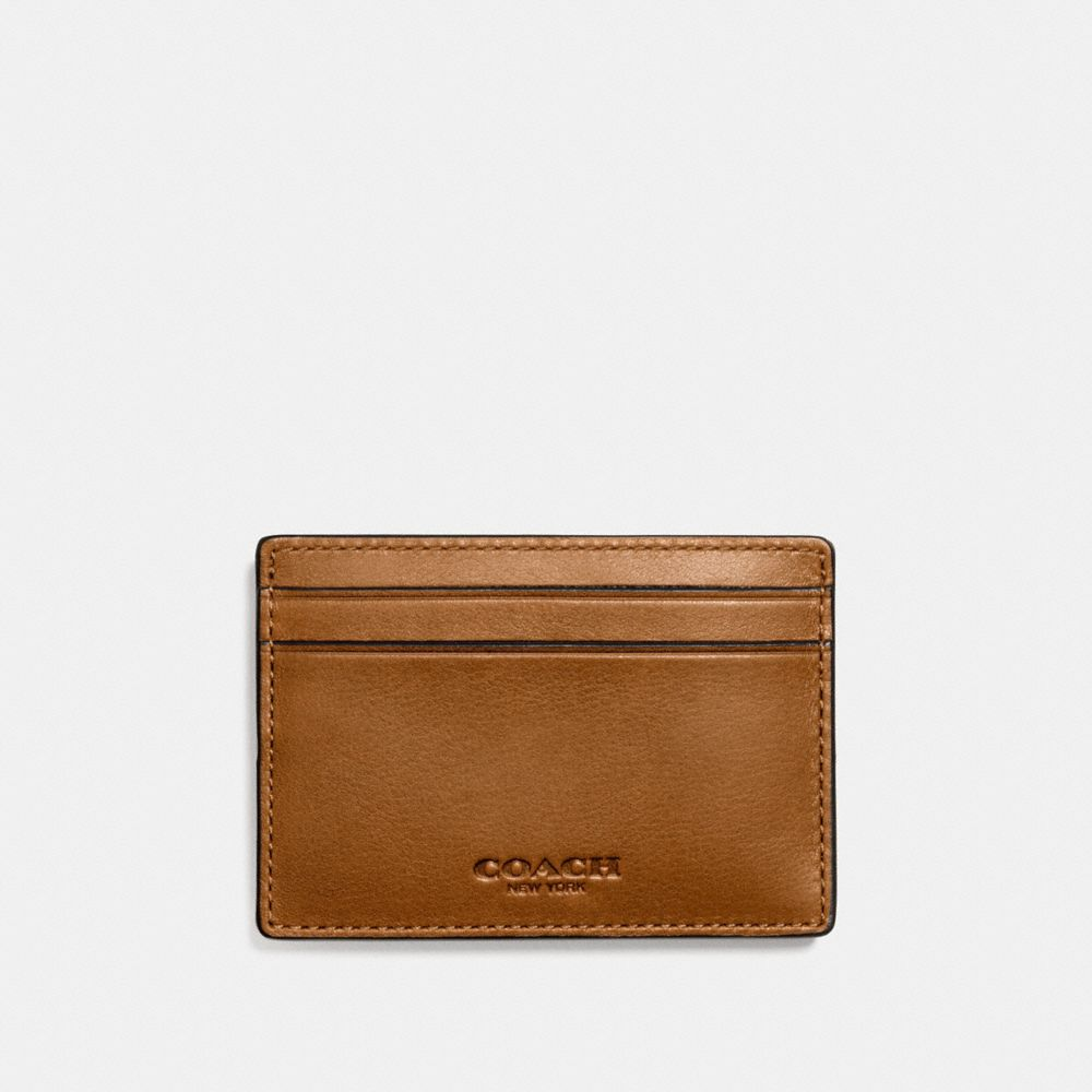 MONEY CLIP CARD CASE IN SPORT CALF LEATHER - Alternate View