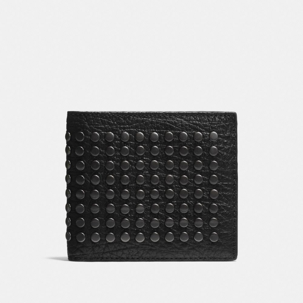 Coach Double Billfold Wallet With Studs
