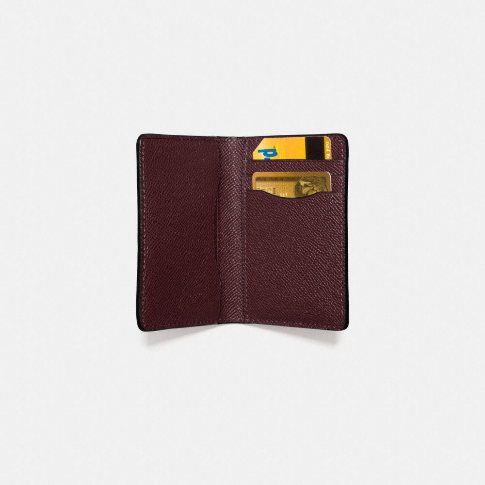 Card Wallet in Crossgrain Leather - Alternate View L1