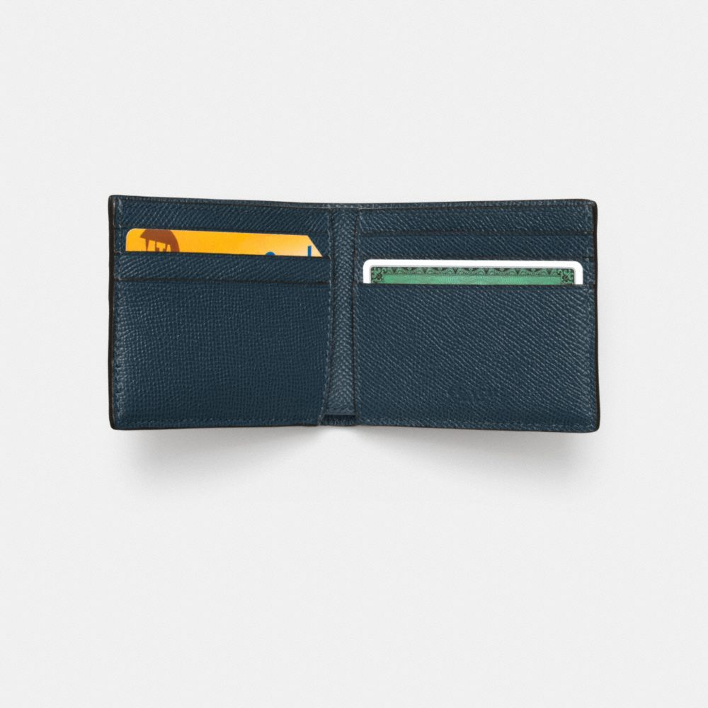SLIM BILLFOLD WALLET IN CROSSGRAIN LEATHER - Alternate View