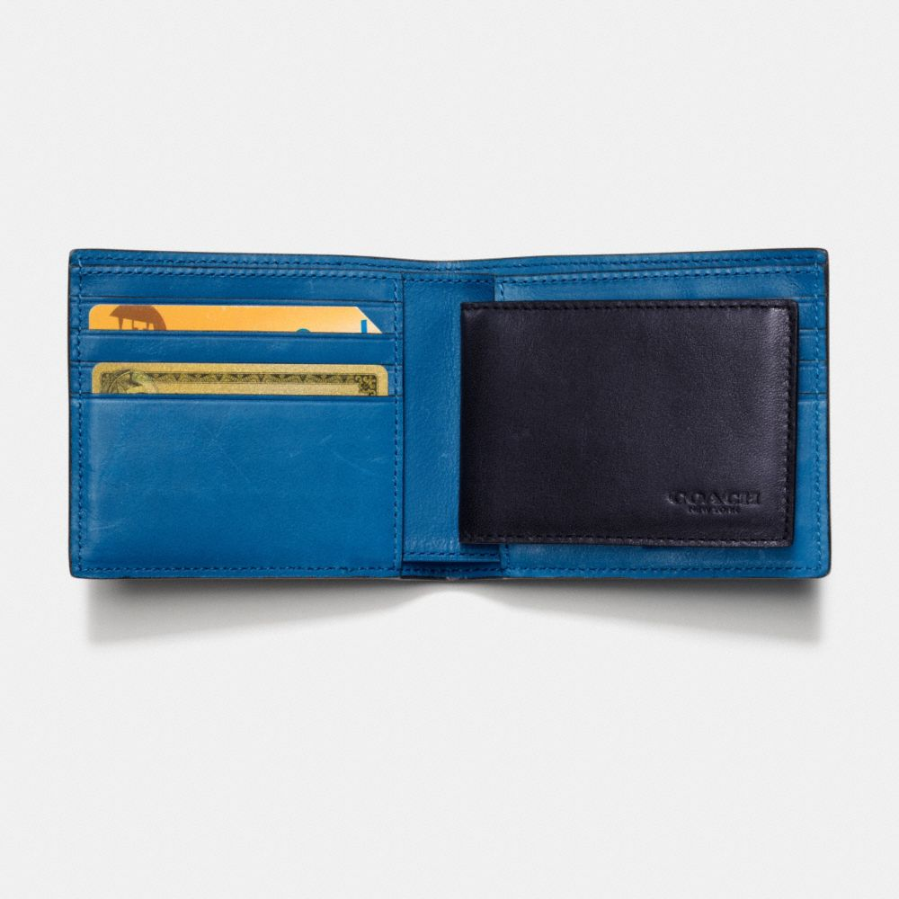 Rip and Repair Compact Id Wallet in Sport Calf Leather - Alternate View L1