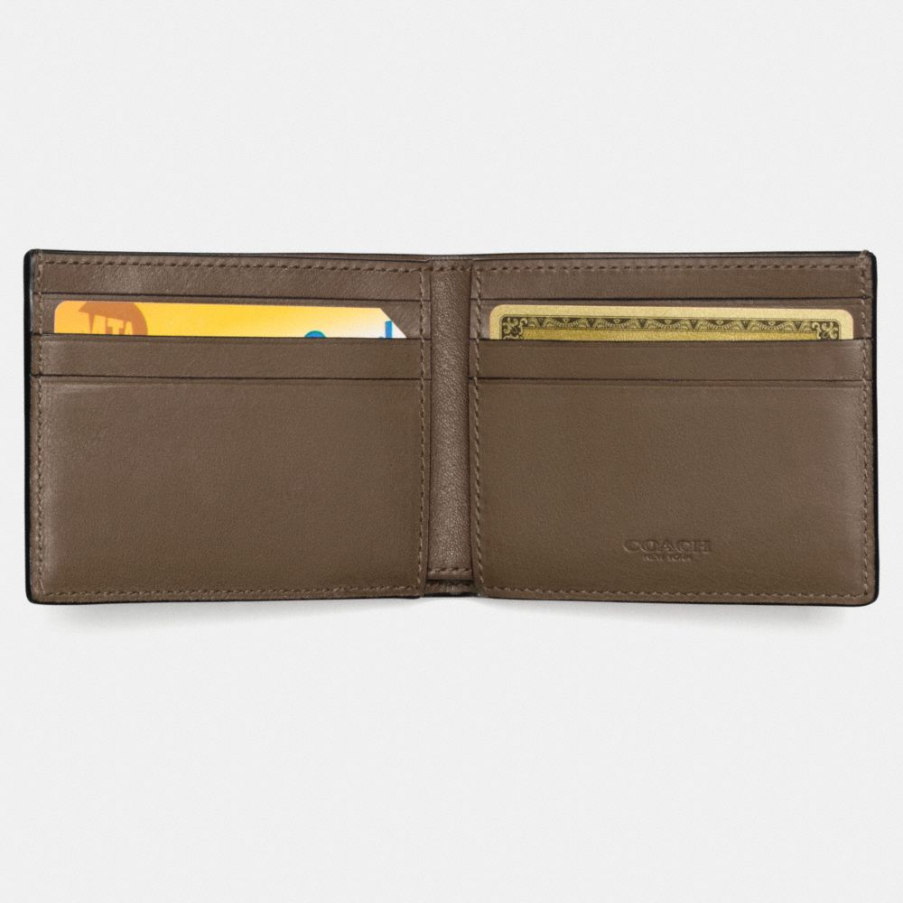 Coach Rip and Repair Slim Billfold Wallet in Sport Calf Leather Alternate View 1