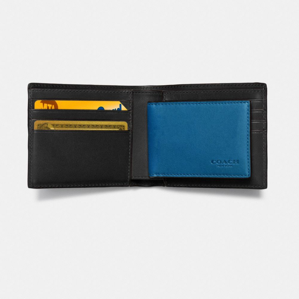 3-In-1 Wallet in Smooth Leather With Varsity Stripe - Alternate View L1