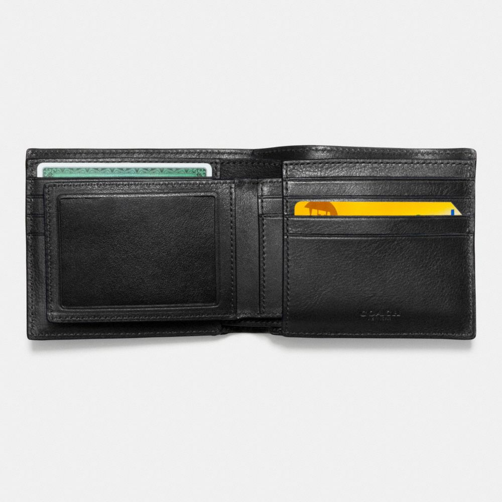 3-In-1 Wallet in Smooth Leather With Varsity Stripe - Alternate View L2