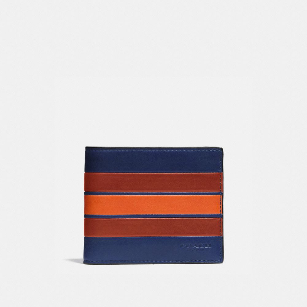 coach man bag outlet 3gn5  3-IN-1 WALLET IN SMOOTH LEATHER WITH VARSITY STRIPE