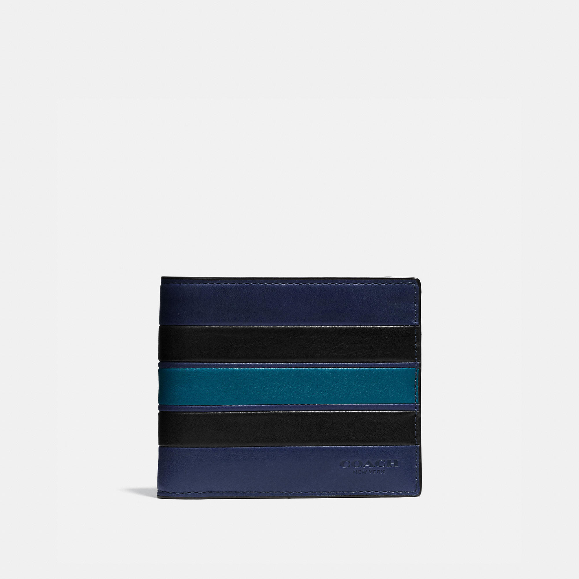 Coach 3-in-1 Wallet In Smooth Leather With Varsity Stripe