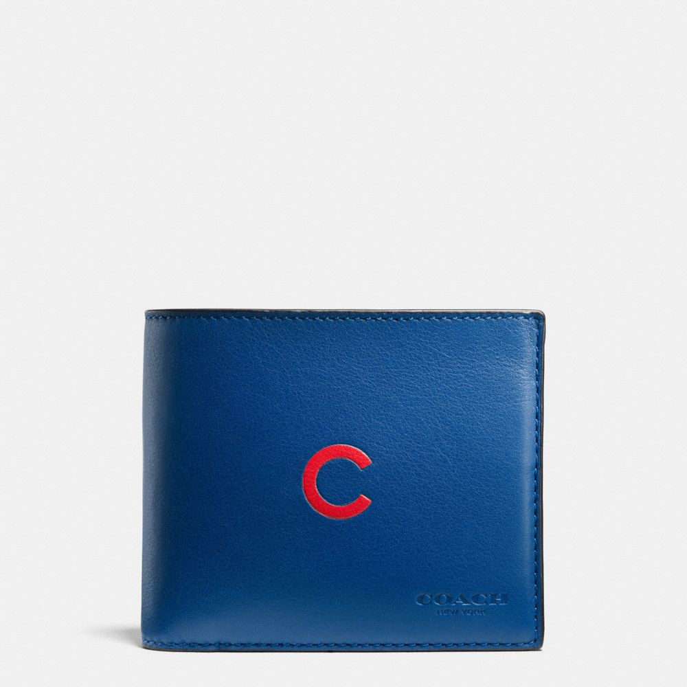 MLB COMPACT ID WALLET IN SPORT CALF LEATHER - Alternate View