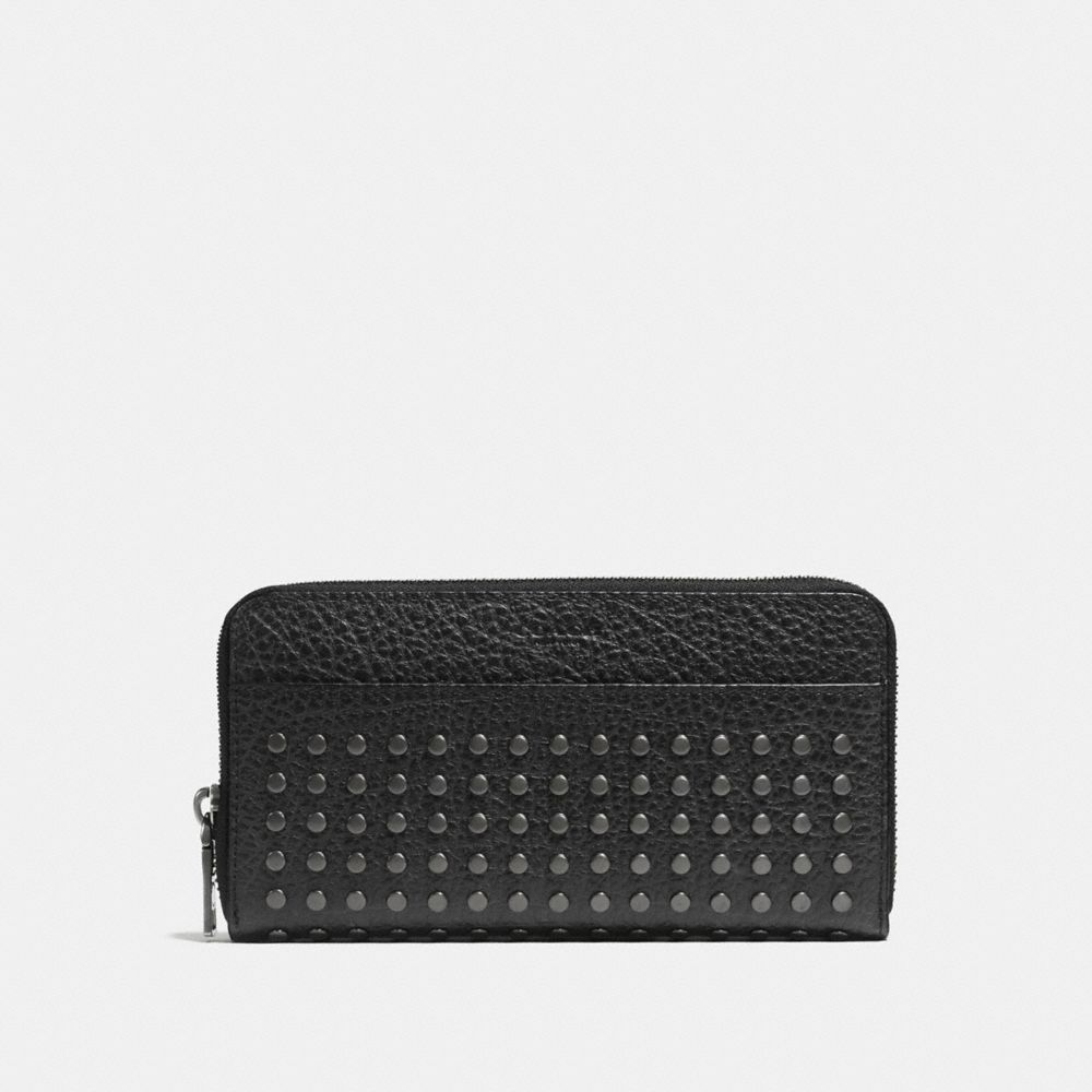 Coach Studs Accordion Wallet in Buffalo Leather