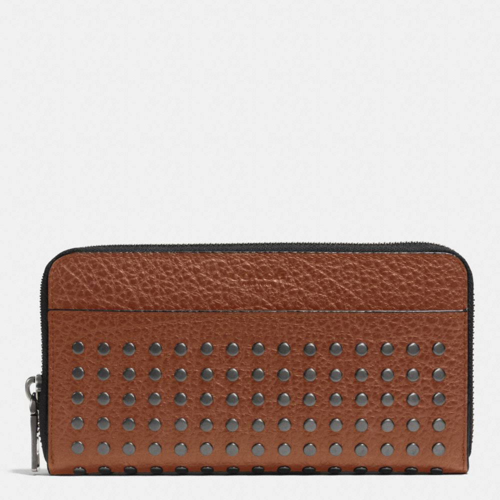 STUDS ACCORDION WALLET IN BUFFALO LEATHER - Alternate View