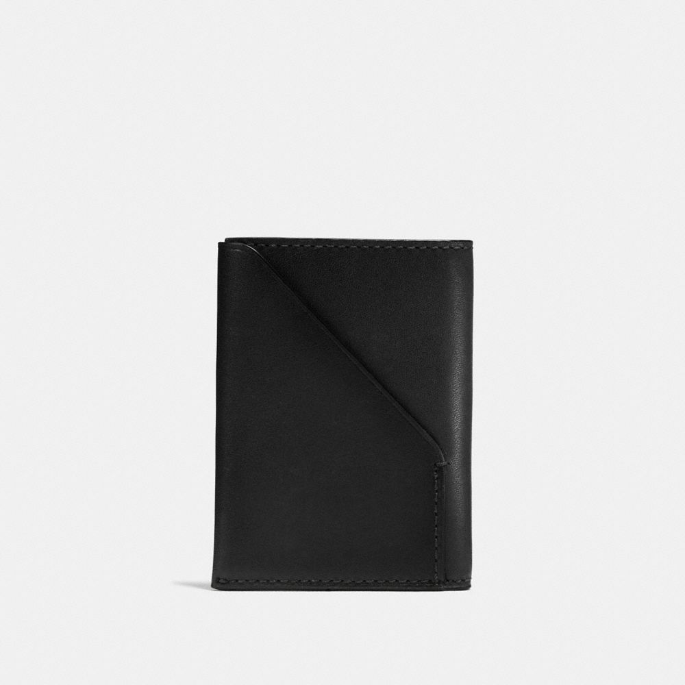SLIM CARD WALLET IN SPORT CALF LEATHER - Alternate View