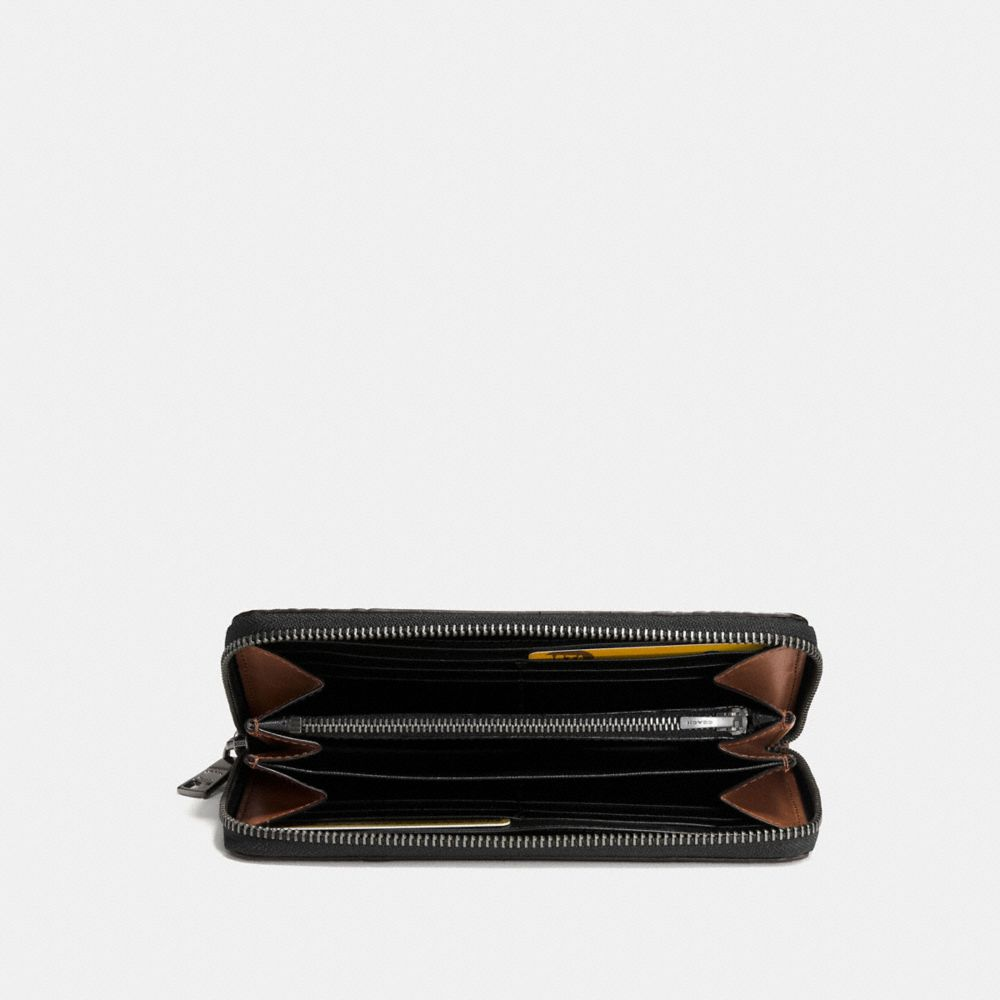 ACCORDION WALLET IN PATCHWORK LEATHER - Alternate View