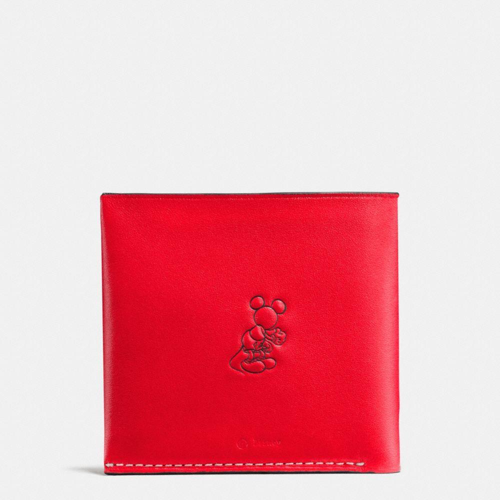 Coach Mickey Double Billfold Wallet in Glovetanned Leather Alternate View 1