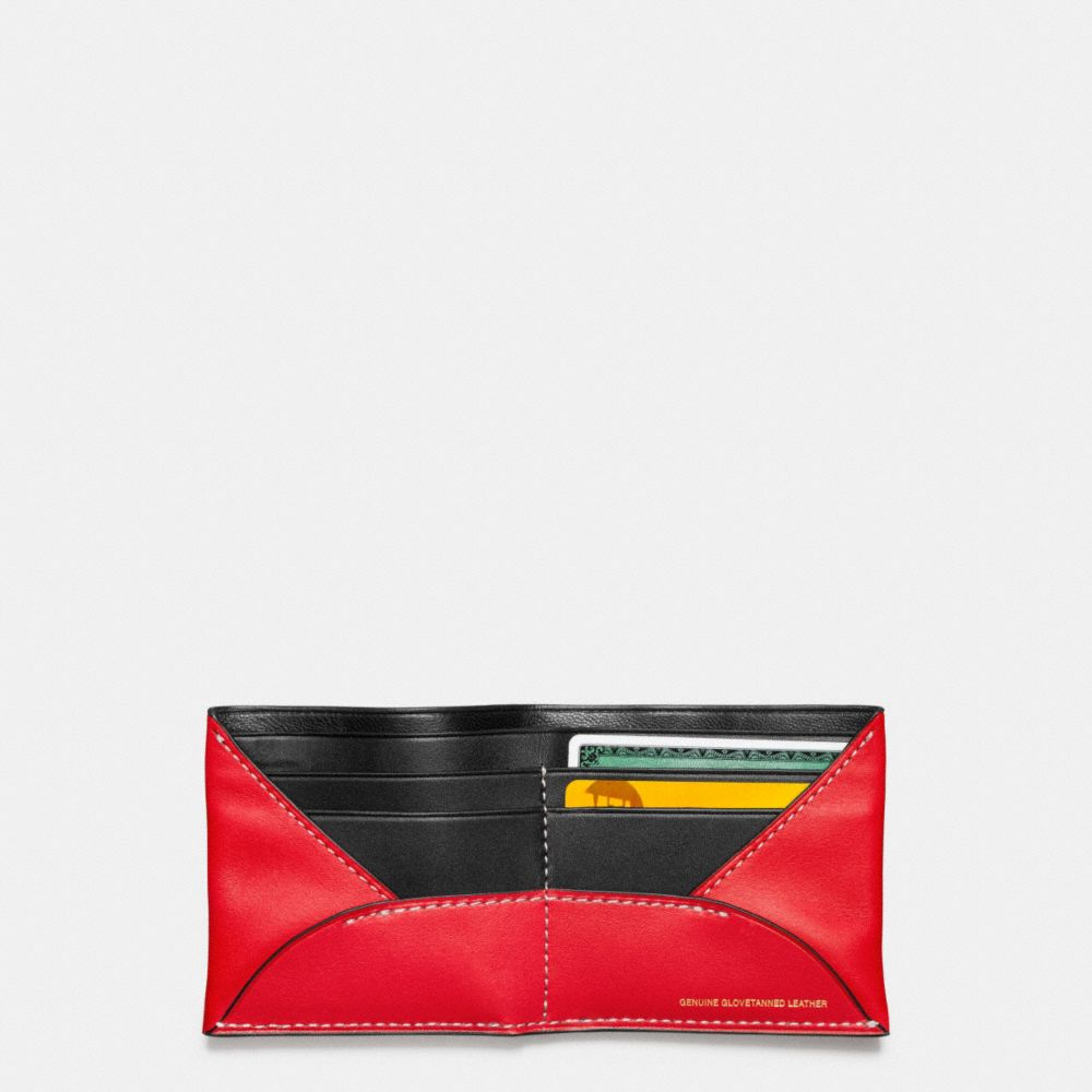 MICKEY DOUBLE BILLFOLD WALLET IN GLOVETANNED LEATHER - Alternate View