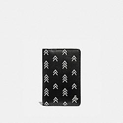 CARD WALLET WITH LINE ARROW PRINT - BLACK/CHALK - COACH 75498