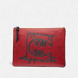 POUCH 30 WITH REXY BY GUANG YU - CARNELIAN - COACH 75508