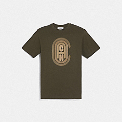 COACH GRAPHIC T-SHIRT - OLIVE - COACH 75828