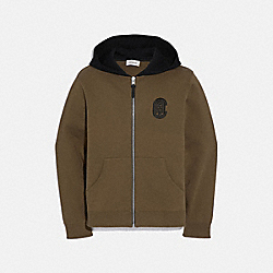 COACH GRAPHIC HOODIE - OLIVE/BLACK - COACH 75831